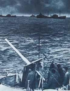 merchantmen during a Arctic convoy