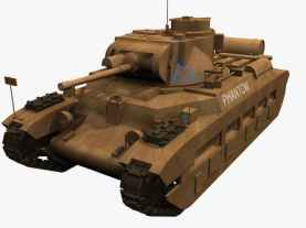 3d model of Infantry Tank Mk II, Matilda II