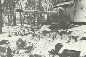 Matilda infantry tank goes into action in support of Russian infantry