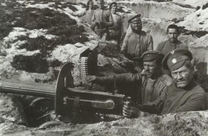 position with M190 'Sokolov' Maxim machine-gun