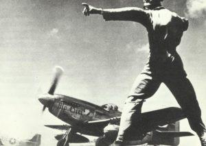 P-51 Mustang long-range fighters start from Iwo Jima