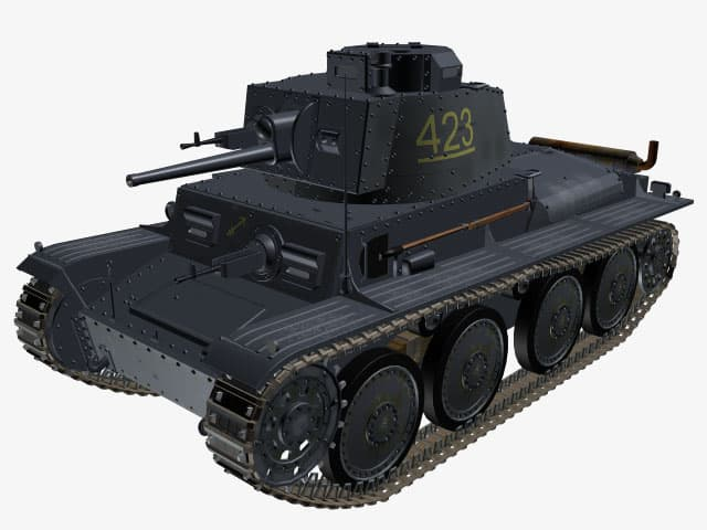 3d model Panzer 38 (t) Ausf G