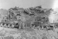 M4A3 Shermans on Okinawa