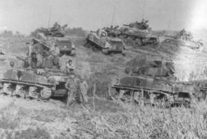M4A3 Shermans on Okinawa