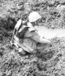 exhausted Marine on Okinawa
