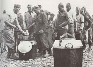 Italian POW's wearing the uniform of the fascist MVSN militia