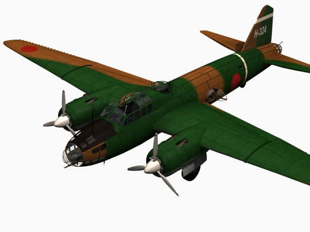 3D model Mitsubishi G4M Betty.