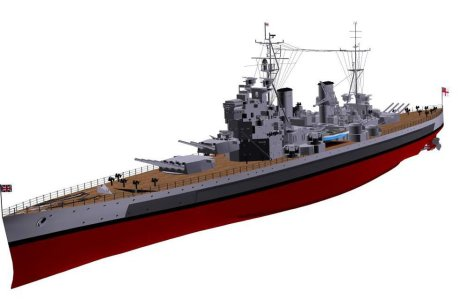 3D model battleship King George V