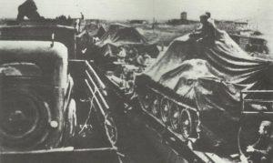 Transportation of a Russian tank brigade