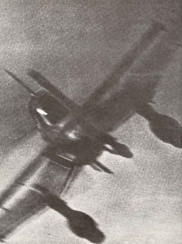 Stuka dive-bomber shortly before it was shot down