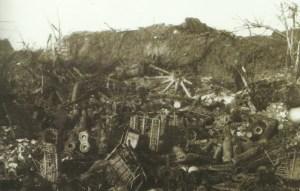 destroyed artillery position