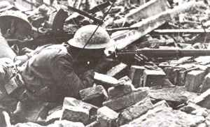 British Enfied rifle No.4 in action