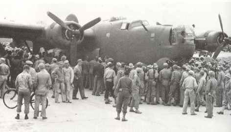 First B-24 in Great Britain