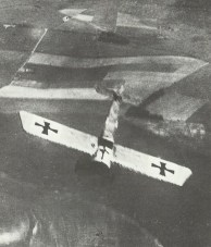 Fokker E monoplane goes into a dive f