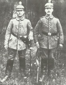 Two members of a German Field Artillery unit