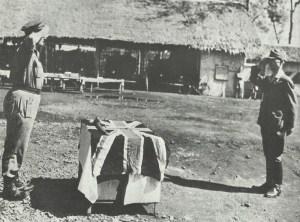 Surrender of Japanese troops-leader