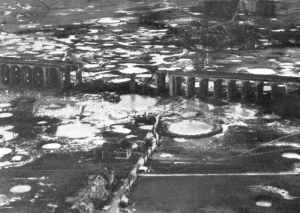 Bielefeld Viaduct after being attacked by Lancaster