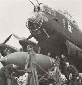 bomb-up a Lancaster with a 12,000 lb Tallboy bomb