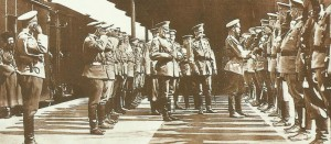 Tsar greets Officers
