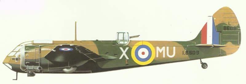 Miodel of standard Blenheim I bomber