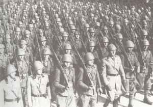 Parade of Italian troops
