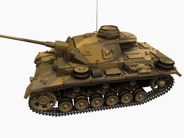 3D model of Panzer III L
