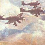 Ju 87 Stukas on the way to a target