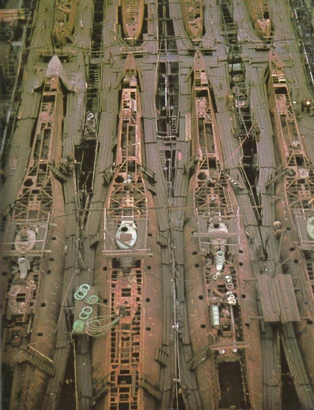 Mass production of Type XXI submarines