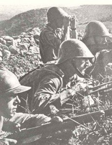 Romanian infantry in the battle of Sevastopol