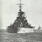 Bismarck of aft.