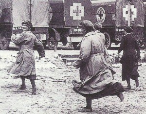 exercise by Red Cross nurses