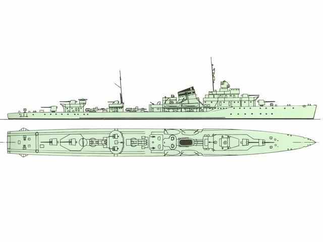 Russian destroyer Silny class