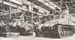 M3 tanks under construction at the Detroit Arsenal