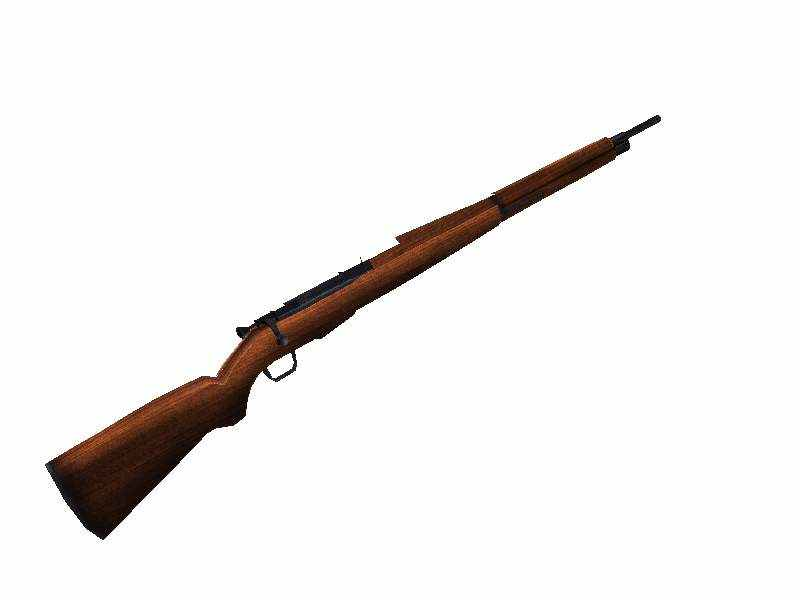 3d model of Springfield rifle.