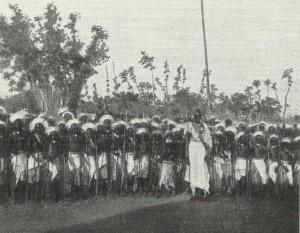 Sultan Msinga of Rwanda with his Cadet Corps