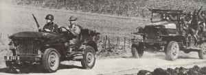 Allied forces advancing to Tunisia