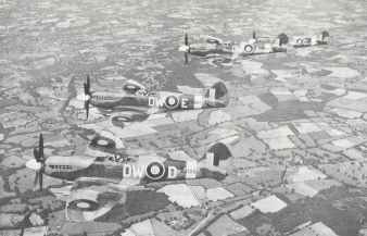 Spitfire XIVs from No.610 Squadron