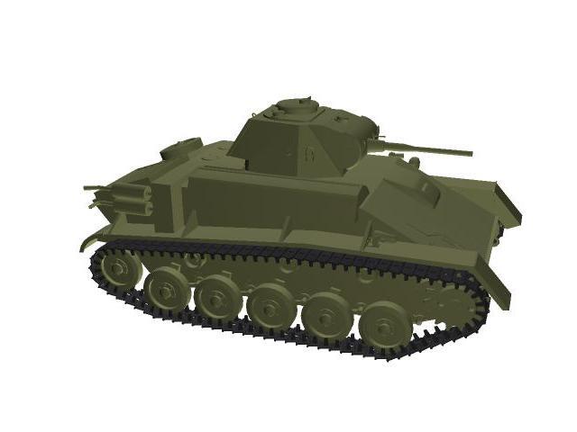 3d model of T-70.