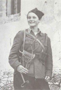 Yugoslav partisan woman soldier