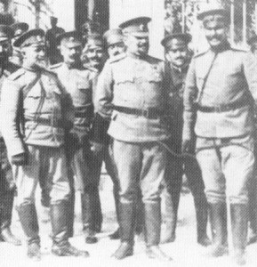 commander and his senior officers of the Bulgarian 10th Infantry Division