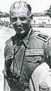 Lieutenant-Colonel Janari, commander of the Italian 2nd Spahis Colonial Cavalry Regiment