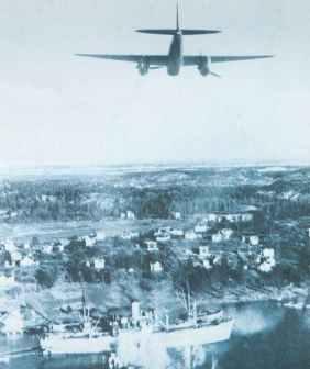 de Havilland Mosquito FB VI attacking a ship