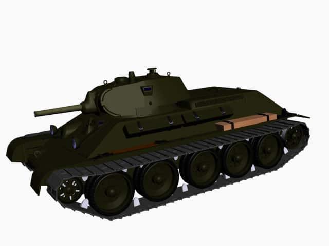 3d model of T-34 Model 1940