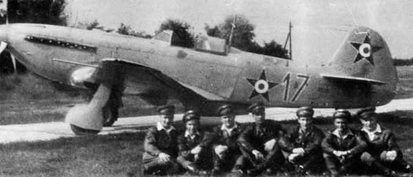 Yakovlev Yak-9P fighter.