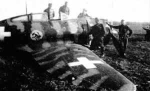 Hungarian Hejja after crash-landing