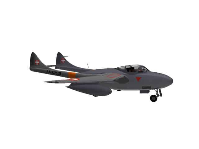 3d model De Havilland Vampire