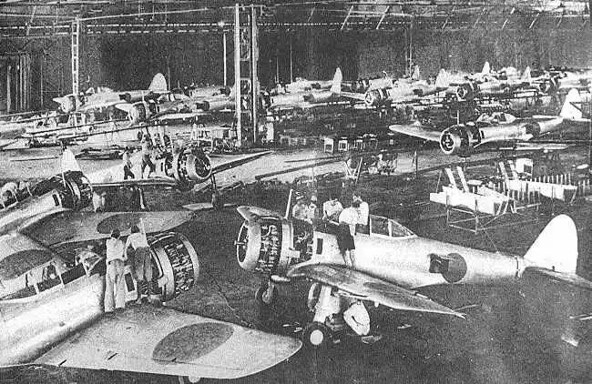Japanese aircraft factory