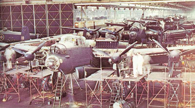 assembly line at Avro's Woodford plant
