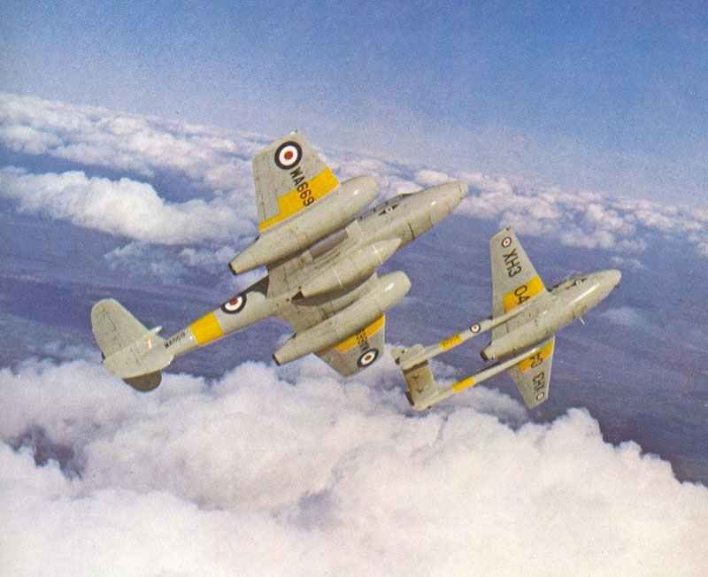De Havilland Vampire of the historical squadron of the RAF