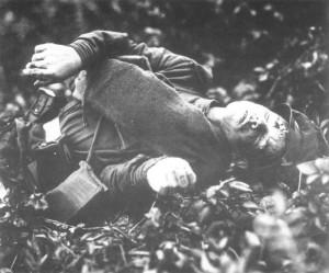 dead Russian soldier